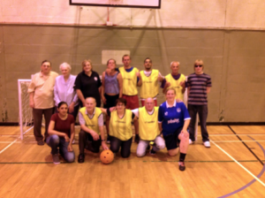 Global Music Visions and Victory Hants help with walking football