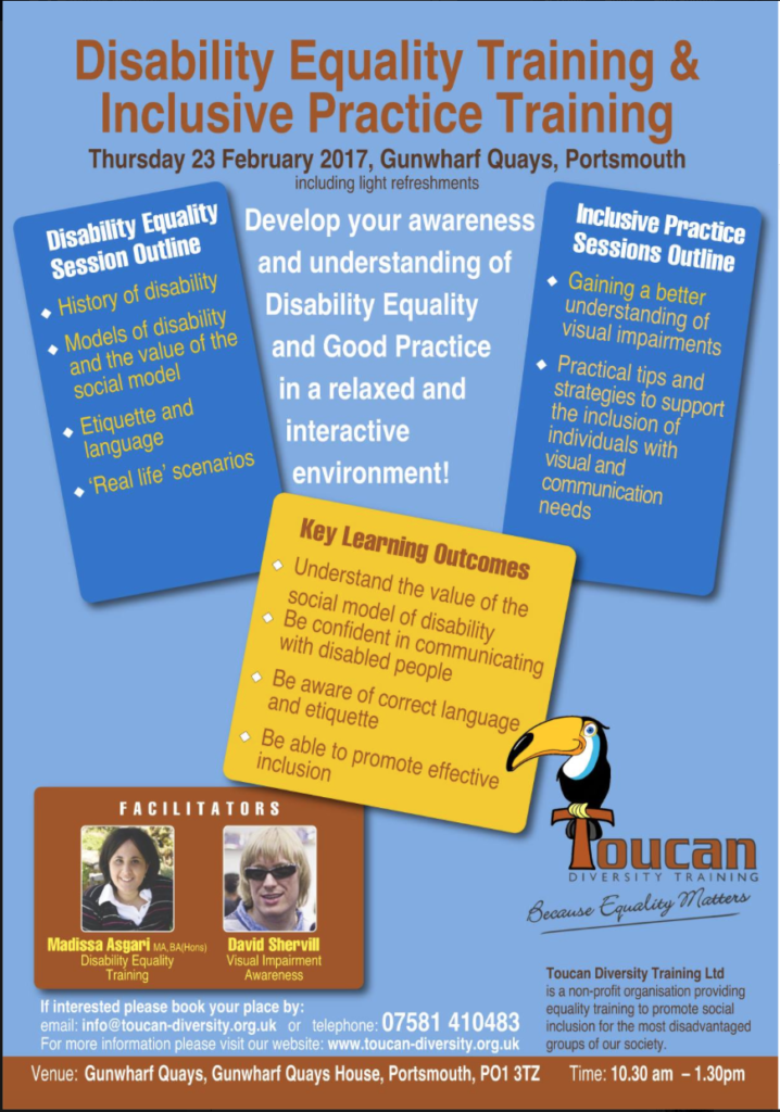 Toucan Diversity Training Ltd Event poster
