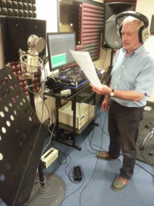 Richard reading scrips in the studio, for the Conan Doyle Collection