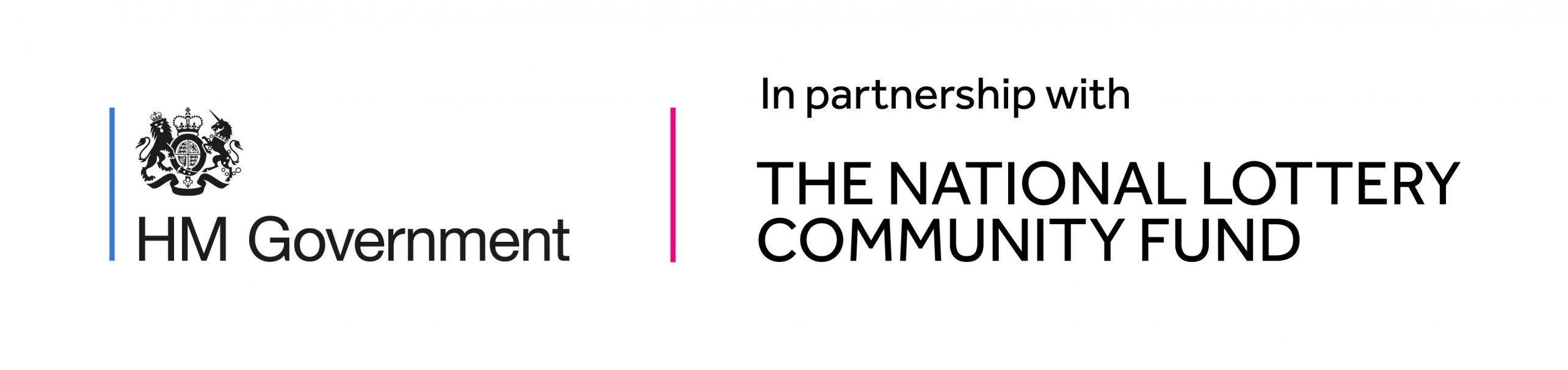 HM Government in partnership with The National Lottery Community Fund Logo